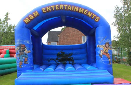 Giant pirate bouncy castle