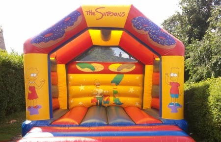 The Simpsons bouncy castle